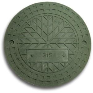 люк зеленый полимерно-композитный